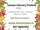 Laois County Council Arts Office presents Leaves Literary Festival 2013